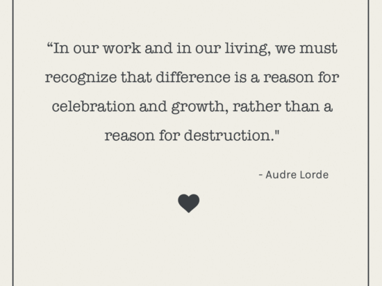 Audre Lorde a letter to readers